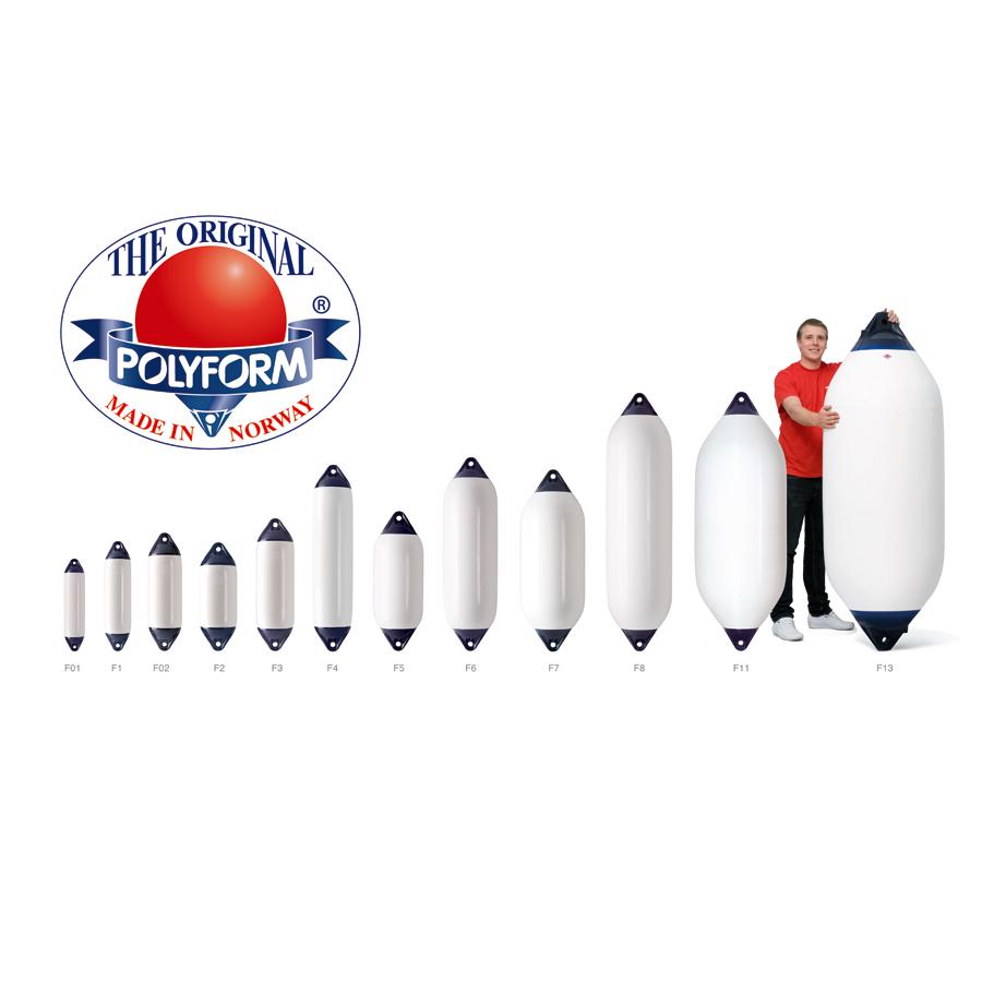 Polyform Heavy Duty Fender F Serie Inflatable Diam 13 80cm