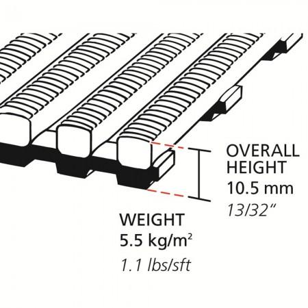heronrib-matting-vloermat-superjacht-binnenvaart-tankers-marine-tekening